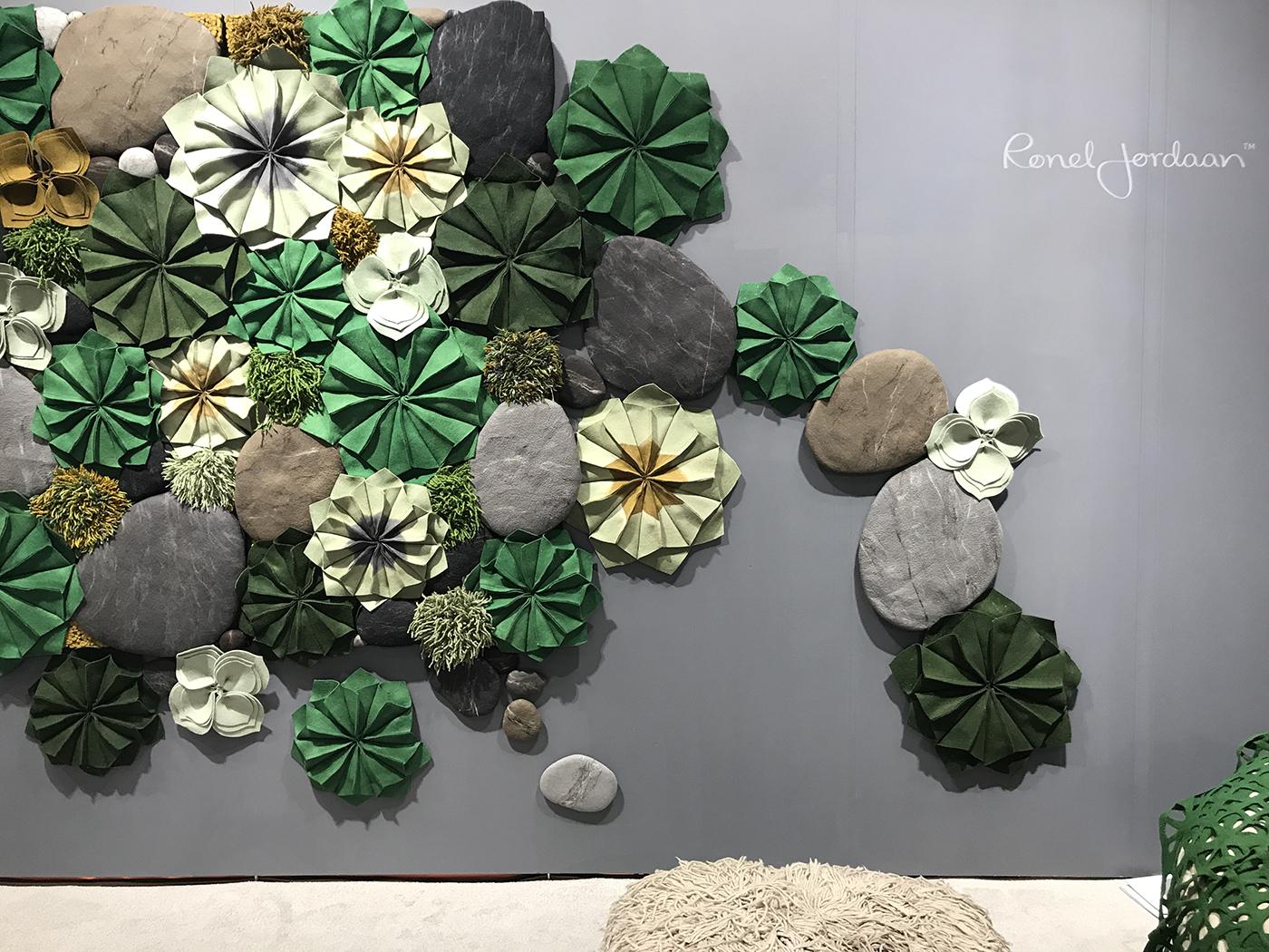Felted Flower Wall Art from Ronel Jordaan