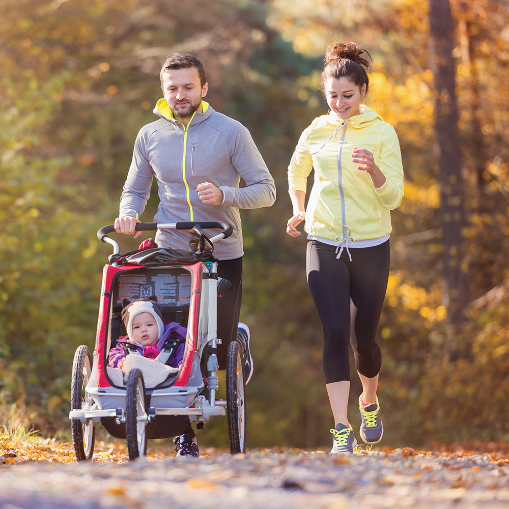 Parents Exercising with Baby
