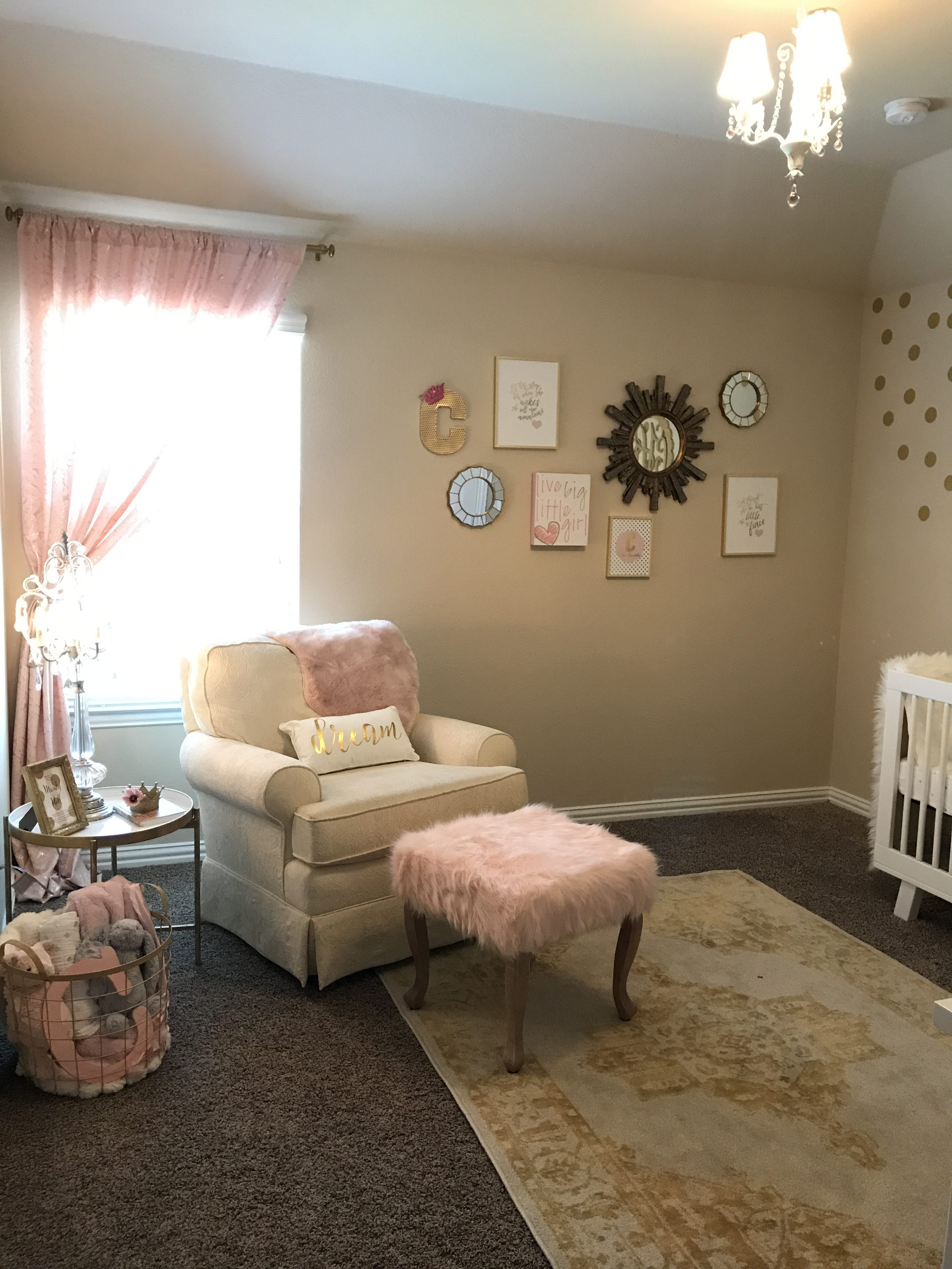 Charlotte S White Gold Amp Blush Pink Nursery Project Nursery