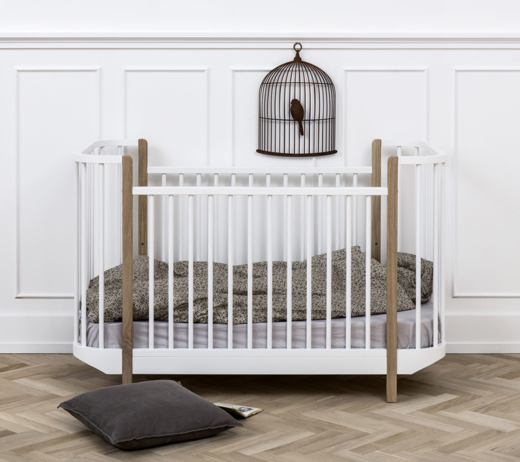 Wood Cot by Oliver Furniture