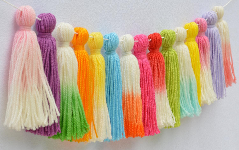 Dip-Dyed Tassel Garland