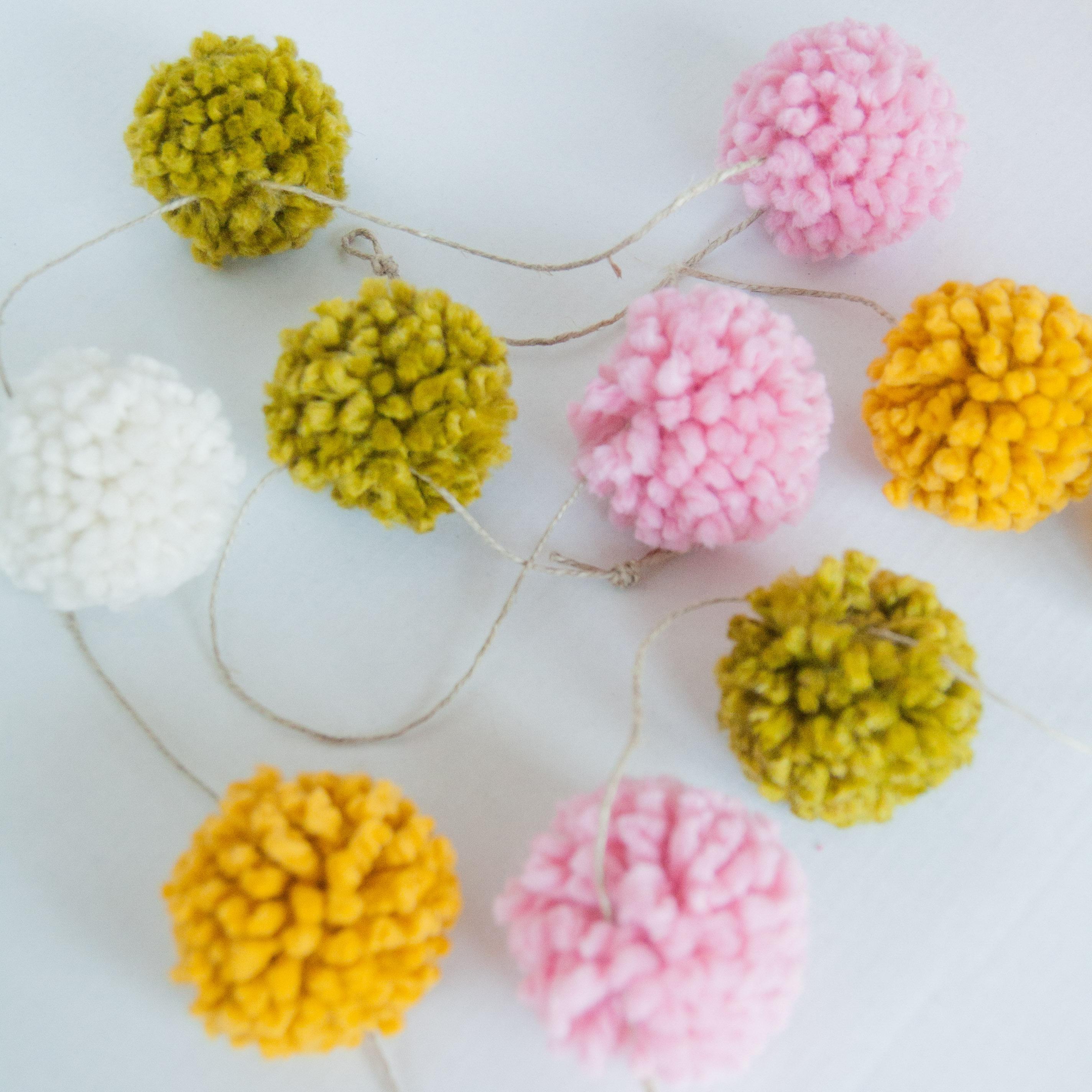 Handmade Yarn Pom Pom Garland