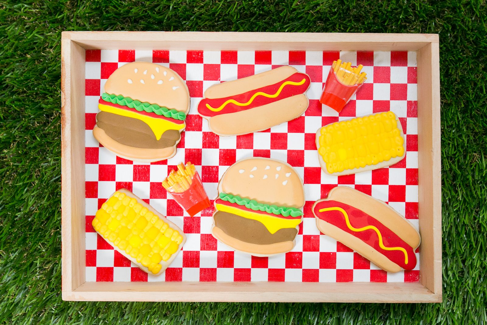 Hotdog and Hamburger Shaped Sugar Cookies