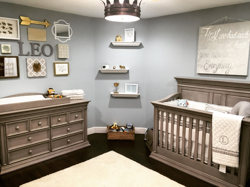 Traditional Boy Nursery With Crown Light Fixture Project