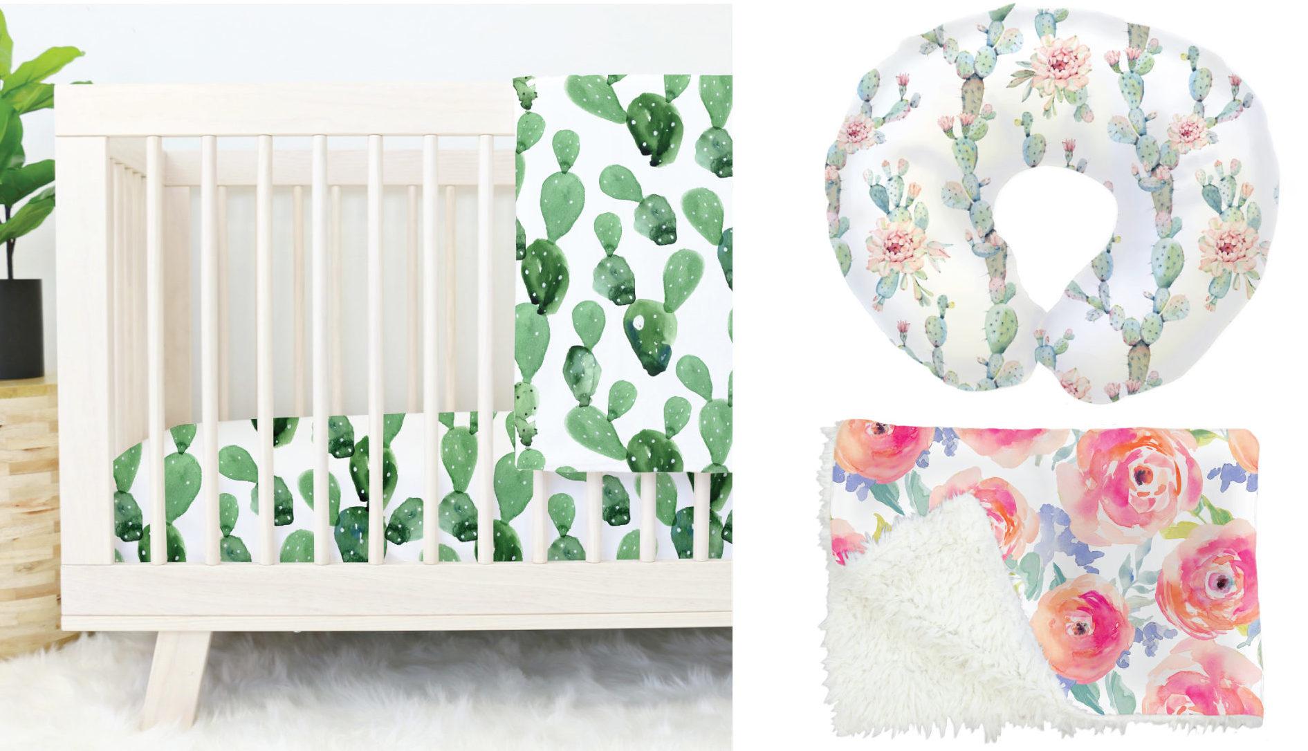 Caden Lane Watercolor Nursery Products