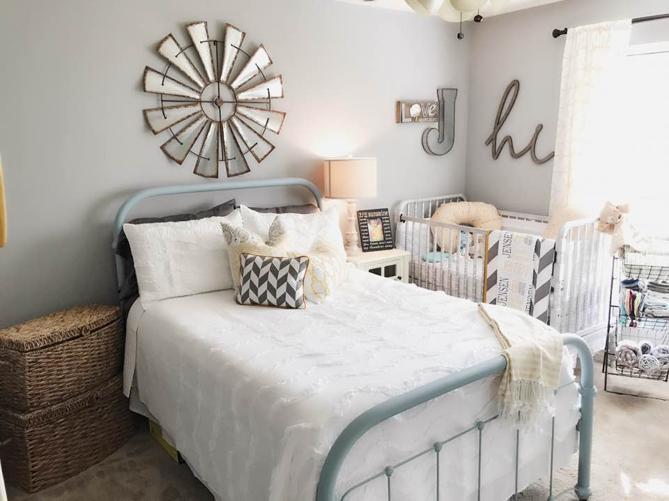 Farmhouse Styled Nursery and Guestroom