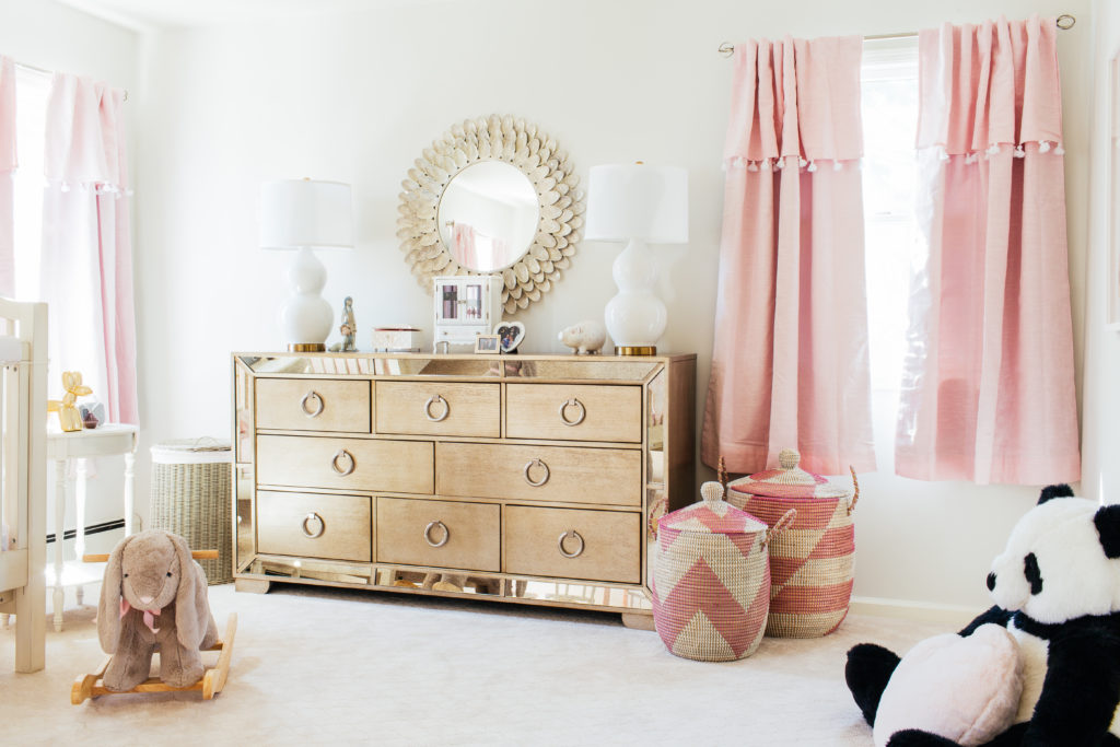 Glam Pink and Gold Girls Nursery - Project Nursery
