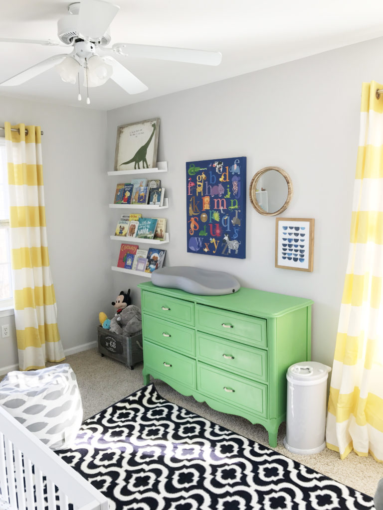Bold and Colorful Nursery with Green Dresser - Project Nursery