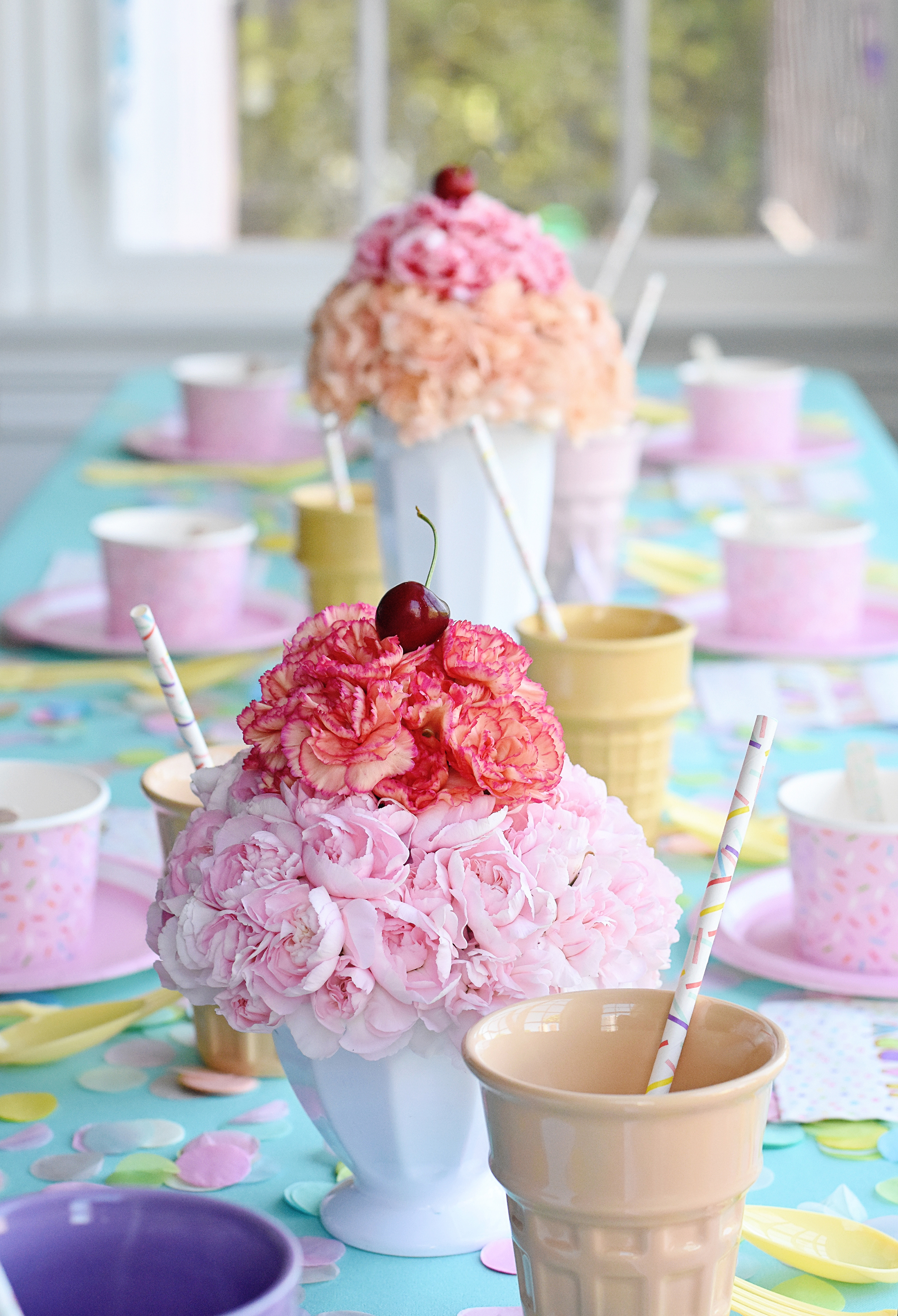 Carnation Sundae Centerpieces - Project Nursery