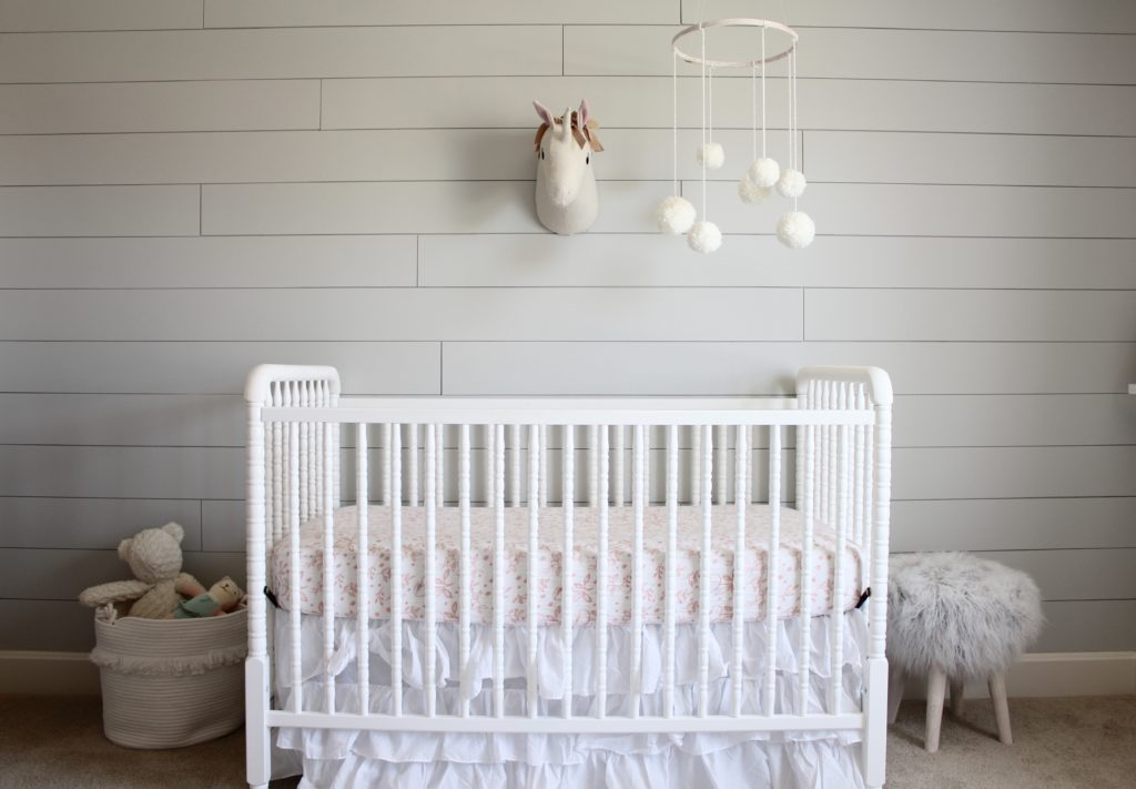 Light And Airy Shiplap Nursery
