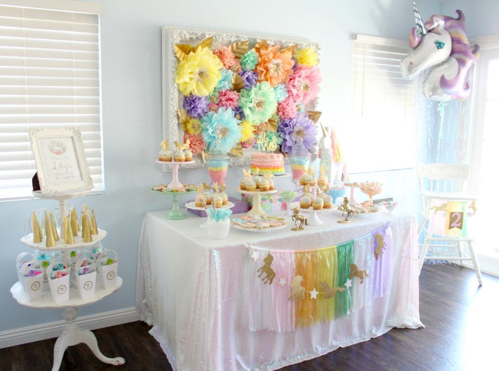 Pastel Iridescent Unicorn Party