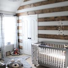 photo of Bryce's Rustic Meets Modern Monochrome Nursery