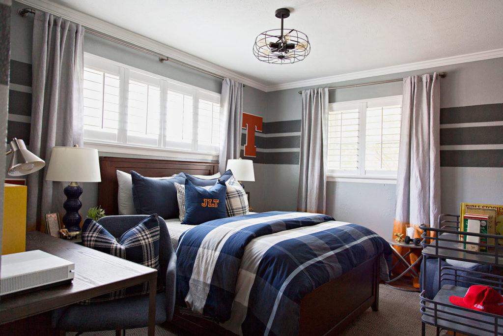 Varsity Sports Inspired Tween Boy Bedroom