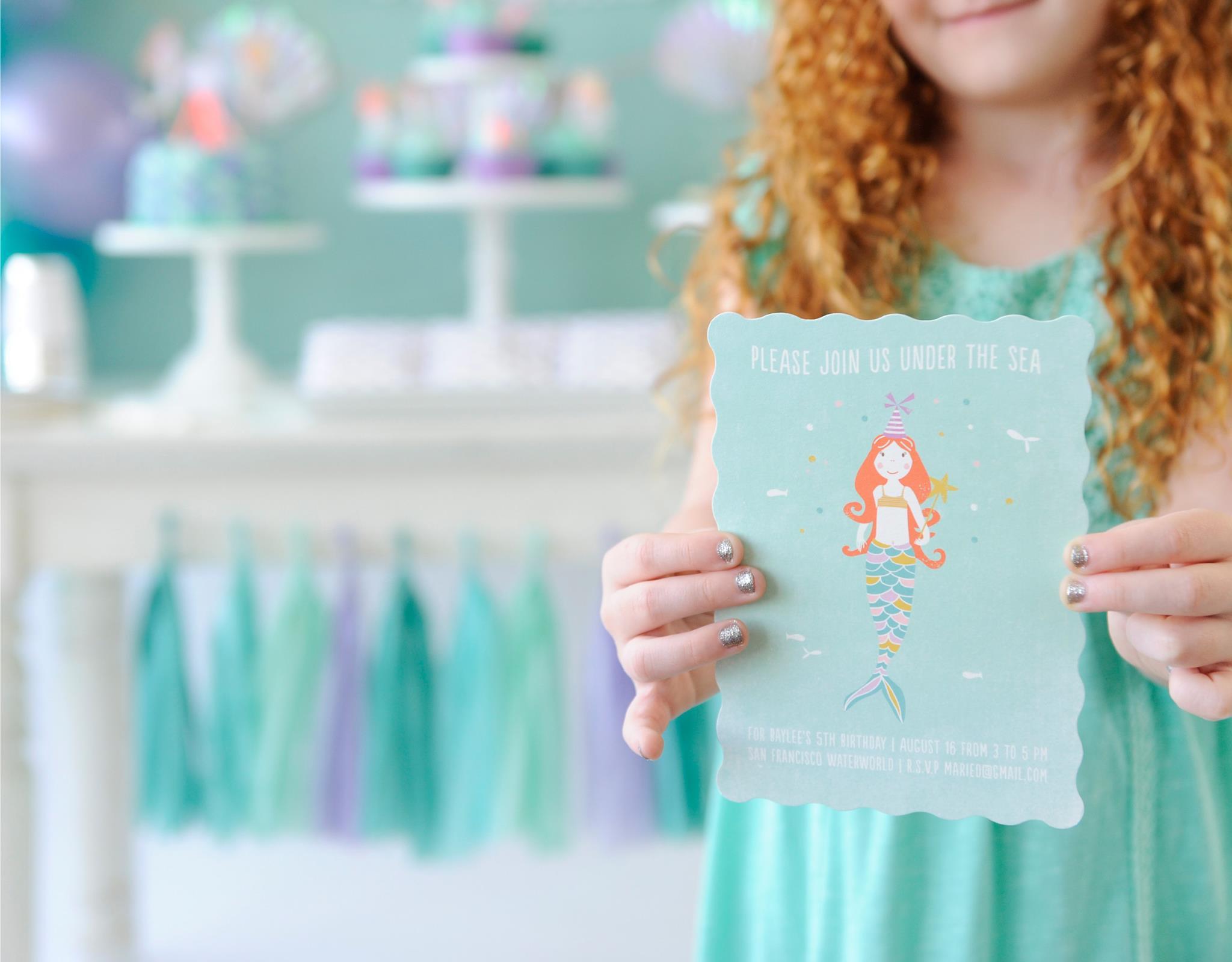 Mermaid Party Invitation - Project Nursery