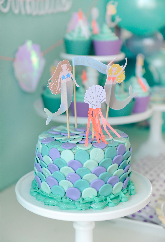 Mermaid Cake Topper - Project Nursery