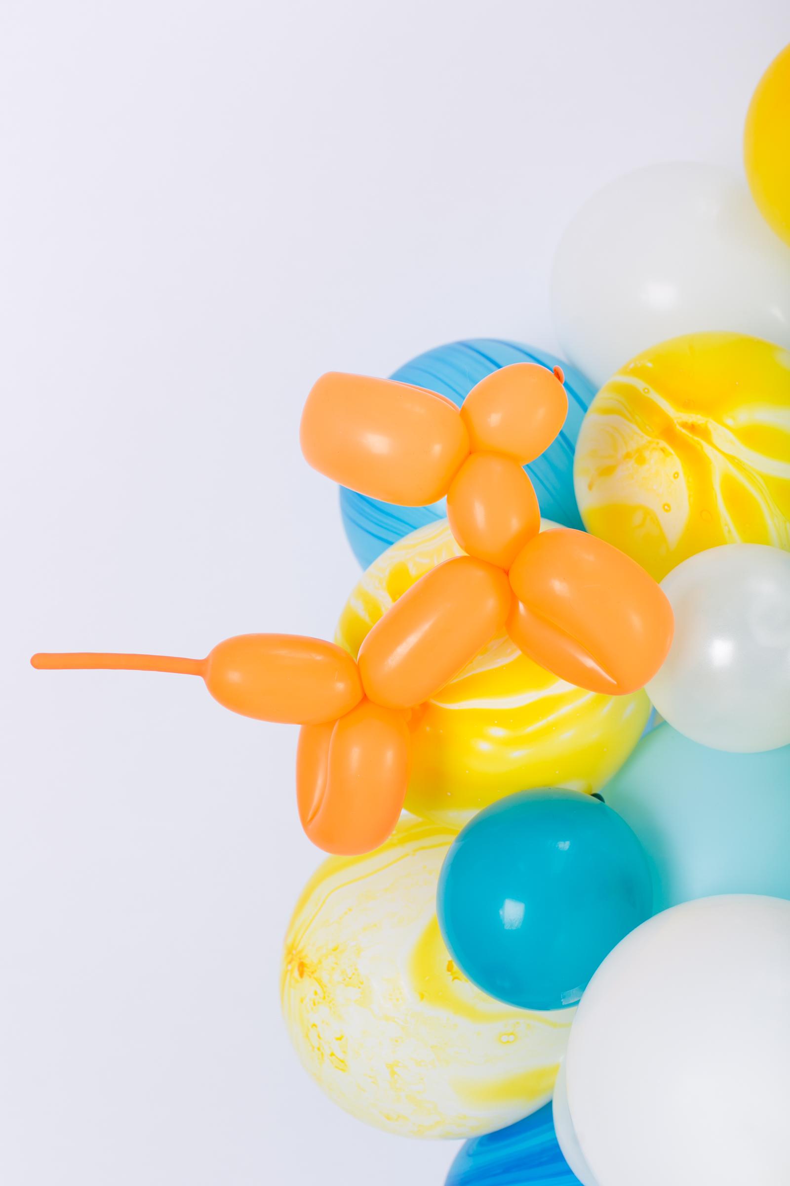 Orange Balloon Animal Dog