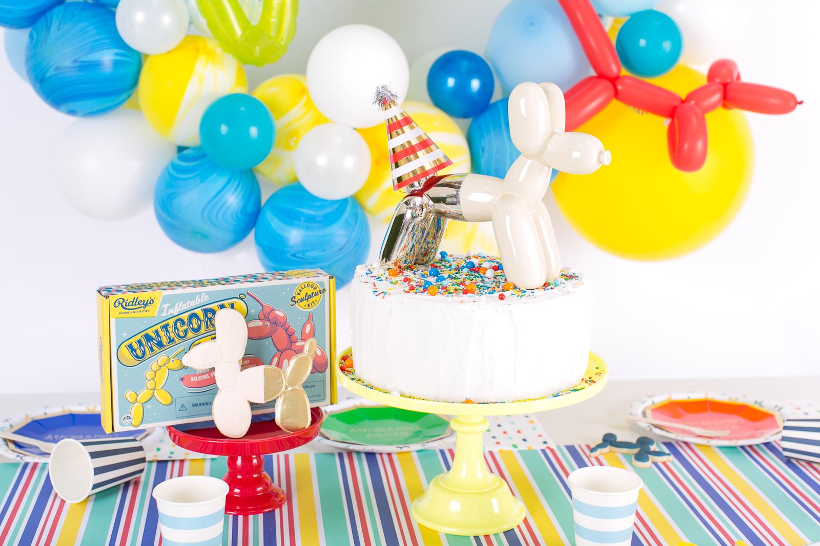 Balloon Animal Party Cake