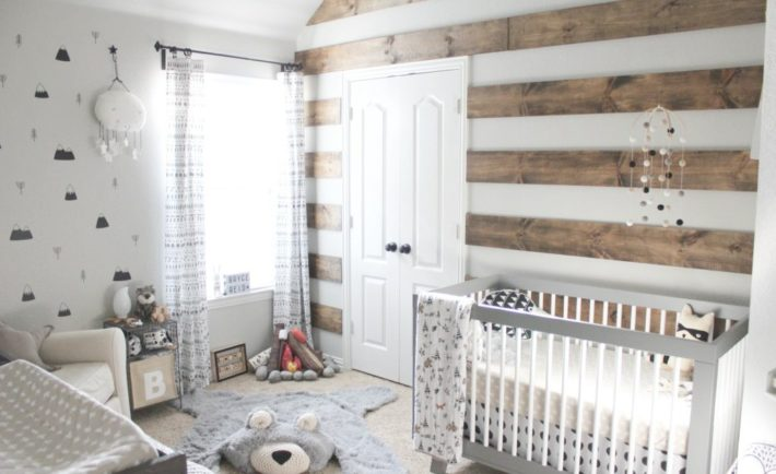 Rustic Modern Nursery with Shiplap Accent Wall - Project Nursery