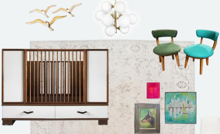 Mid-Century Modern Nursery Design