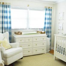 photo of Patrick's Nursery | Buffalo Check Pattern with Lucite Nursery