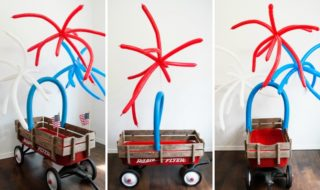 DIY Fourth of July Parade Wagon Independence Day Wagon Decor