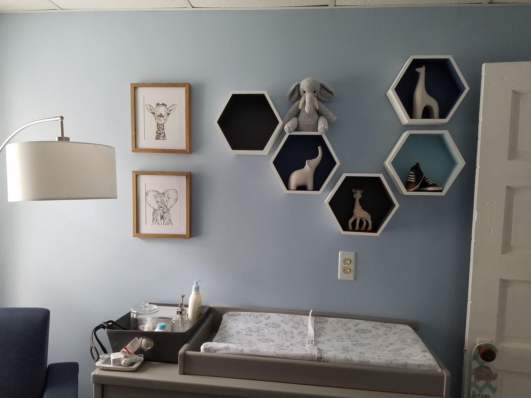 Clark Joseph S Blue And Grey Elephant Nursery Project