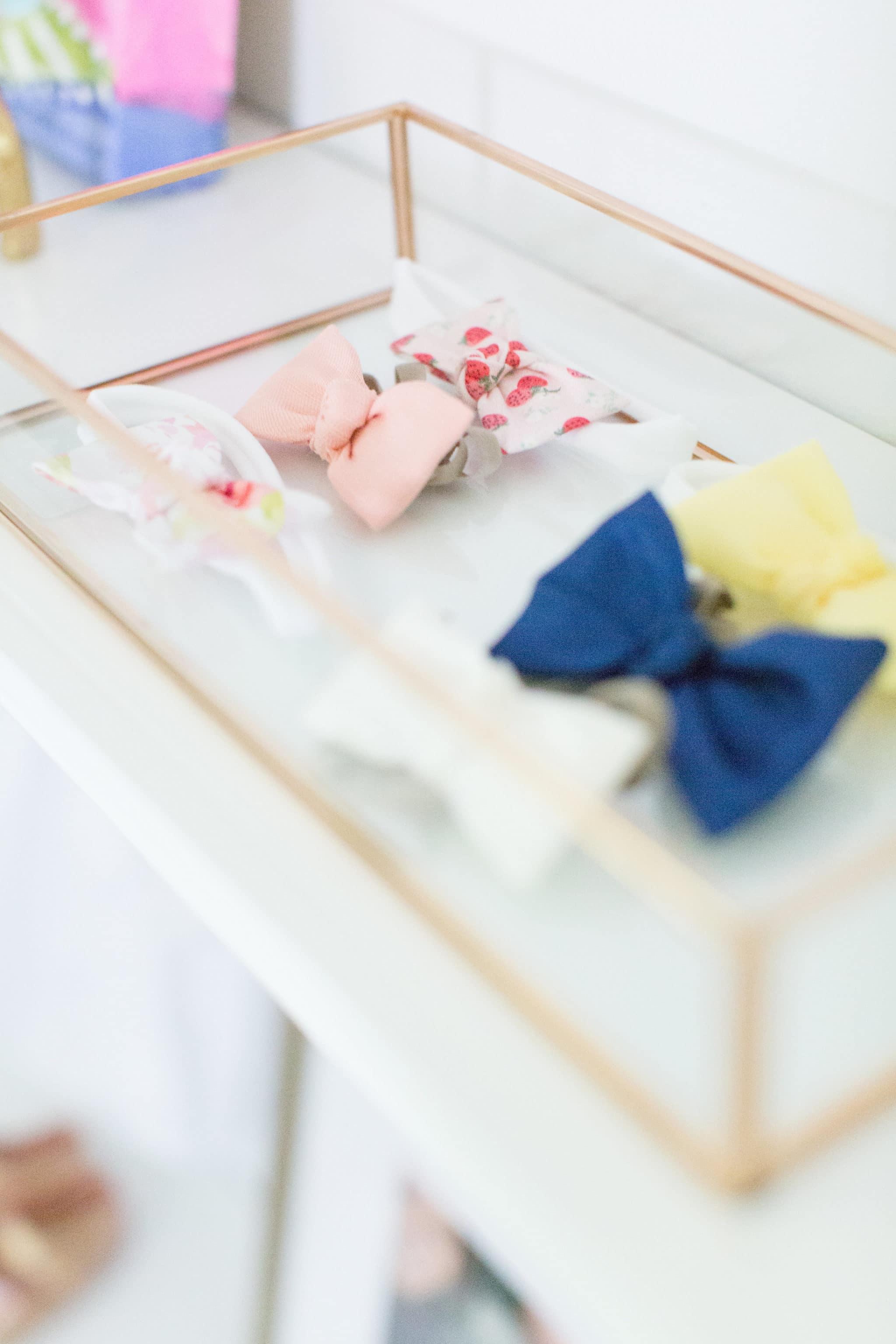 Nursery Bow Storage - Project Nursery
