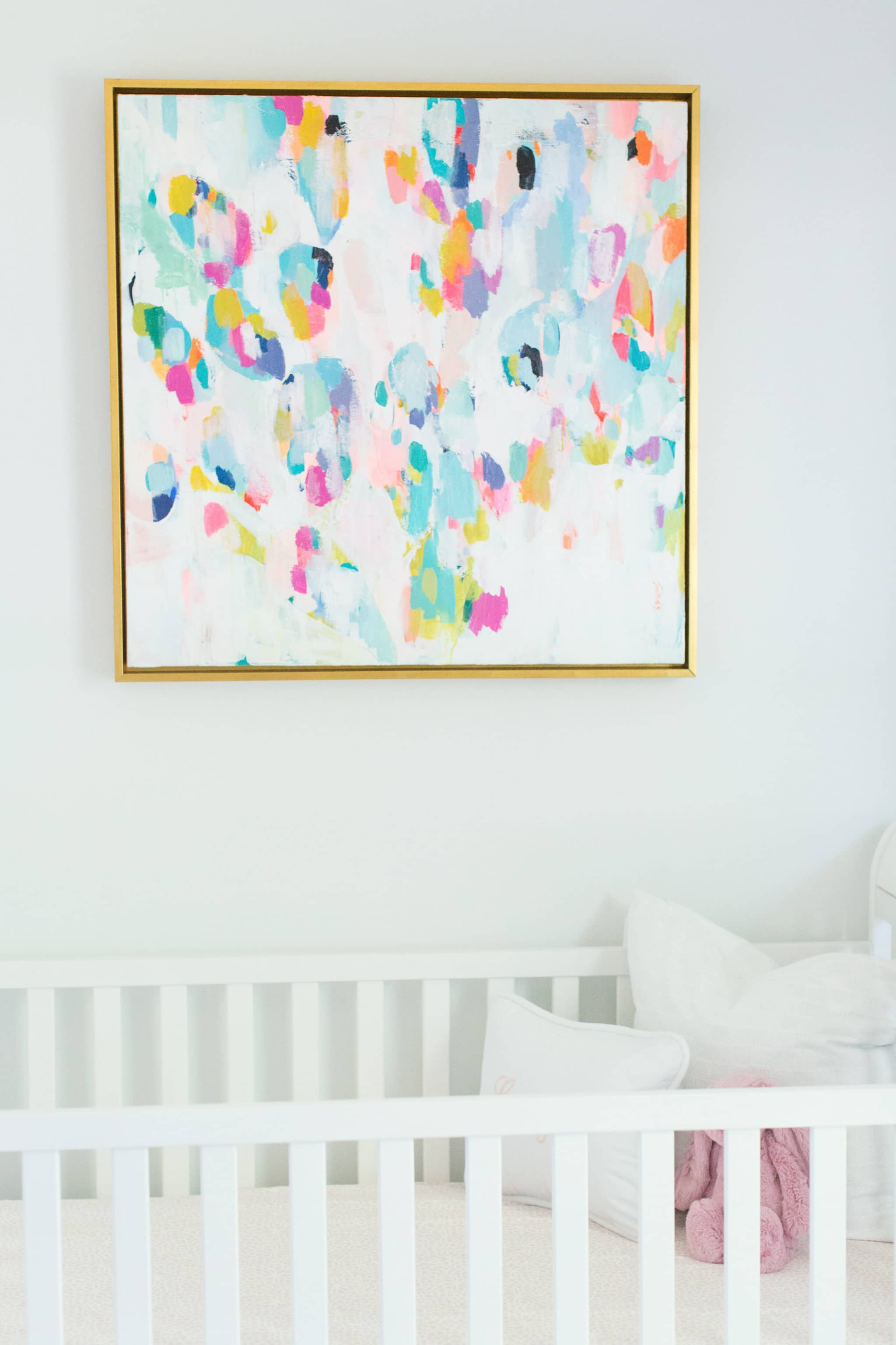 Abstract Painting in Nursery - Project Nursery
