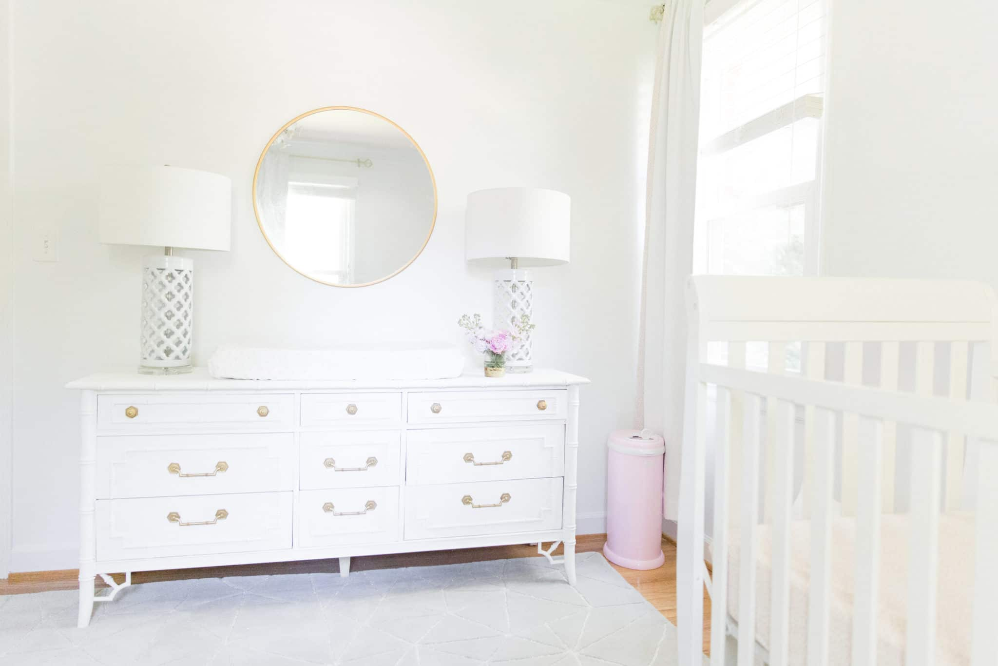 White and Gold Nursery with Pops of Pink - Project Nursery