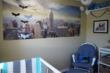Batman Gotham City New York Baby Boy Nursery