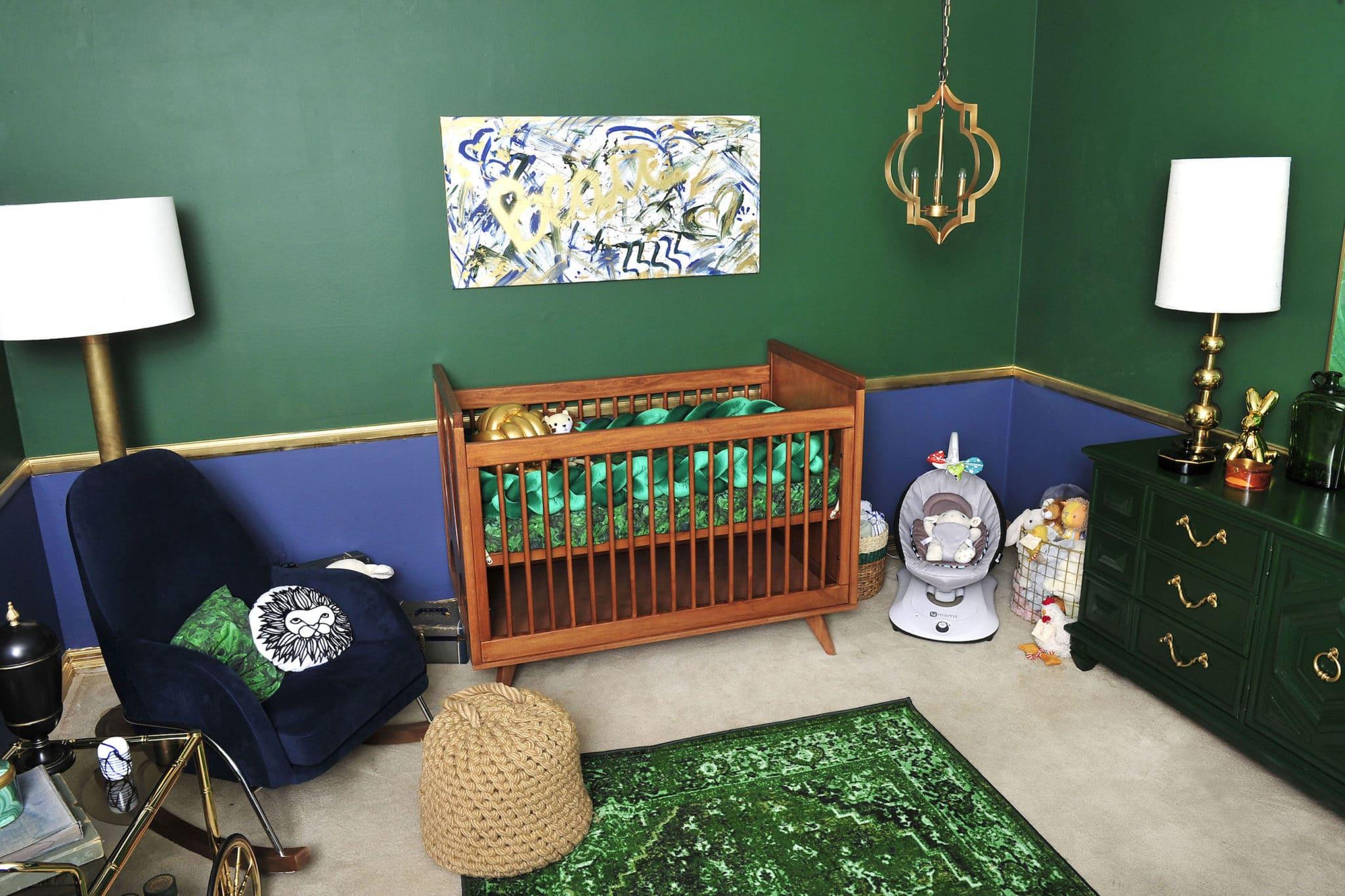 Tori Spelling's Malachite Nursery - Project Nursery