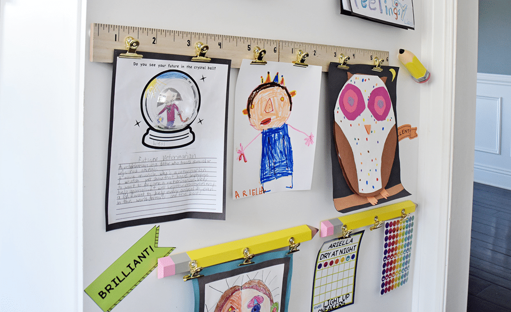 Make a DIY Display for Your Kids\' Schoolwork and Art Projects ...