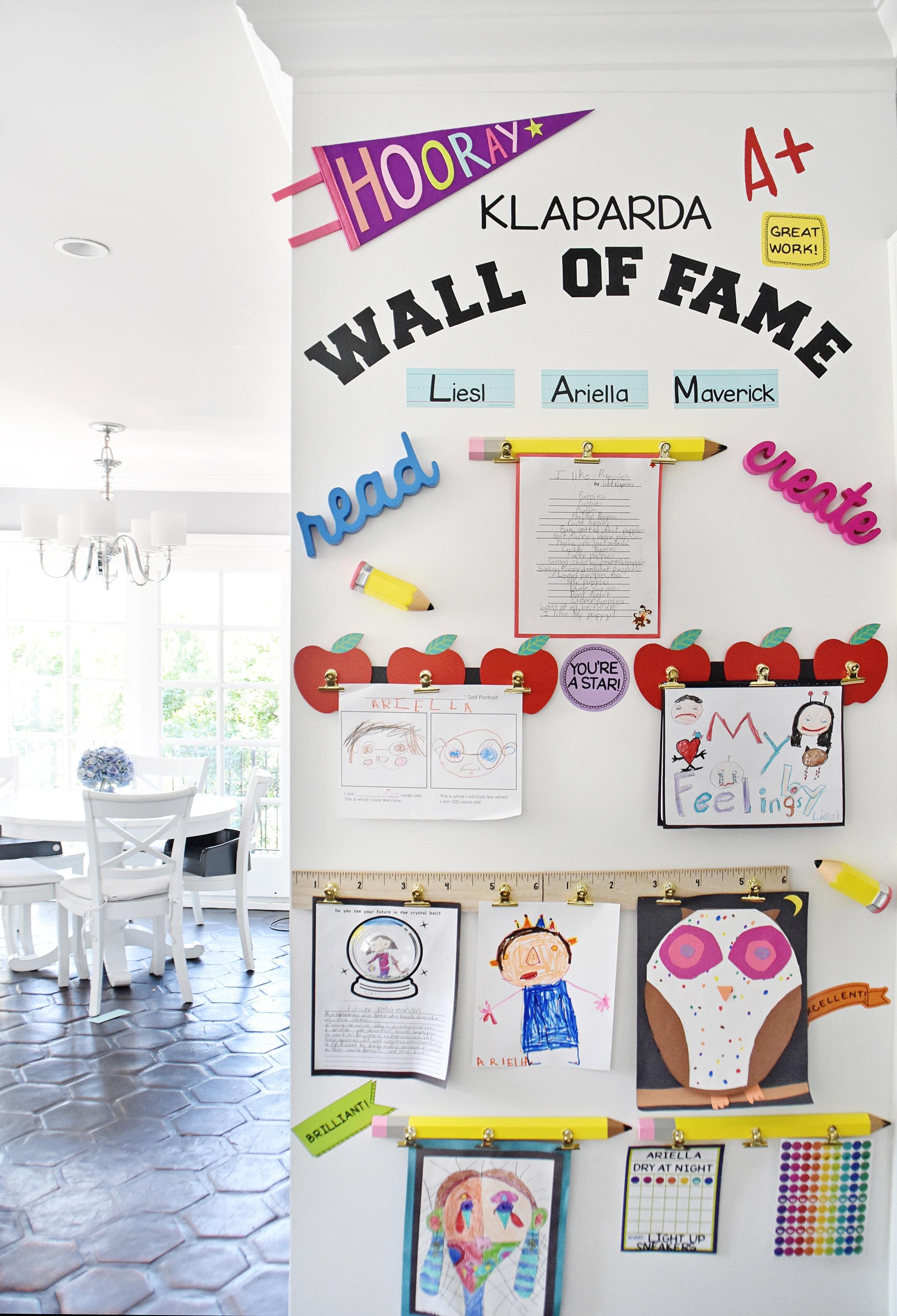 "A $37 Kids Artwork ""Wall of Fame!"""