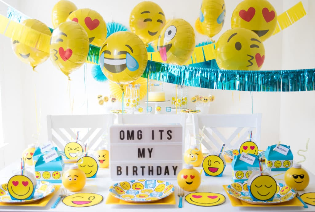 Throw A Fabulous Emoji Birthday Party