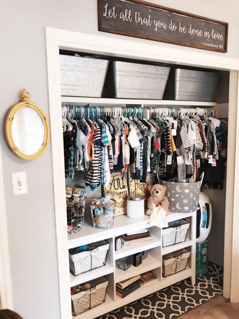 Beau Organized Nursery Closet   Project Nursery