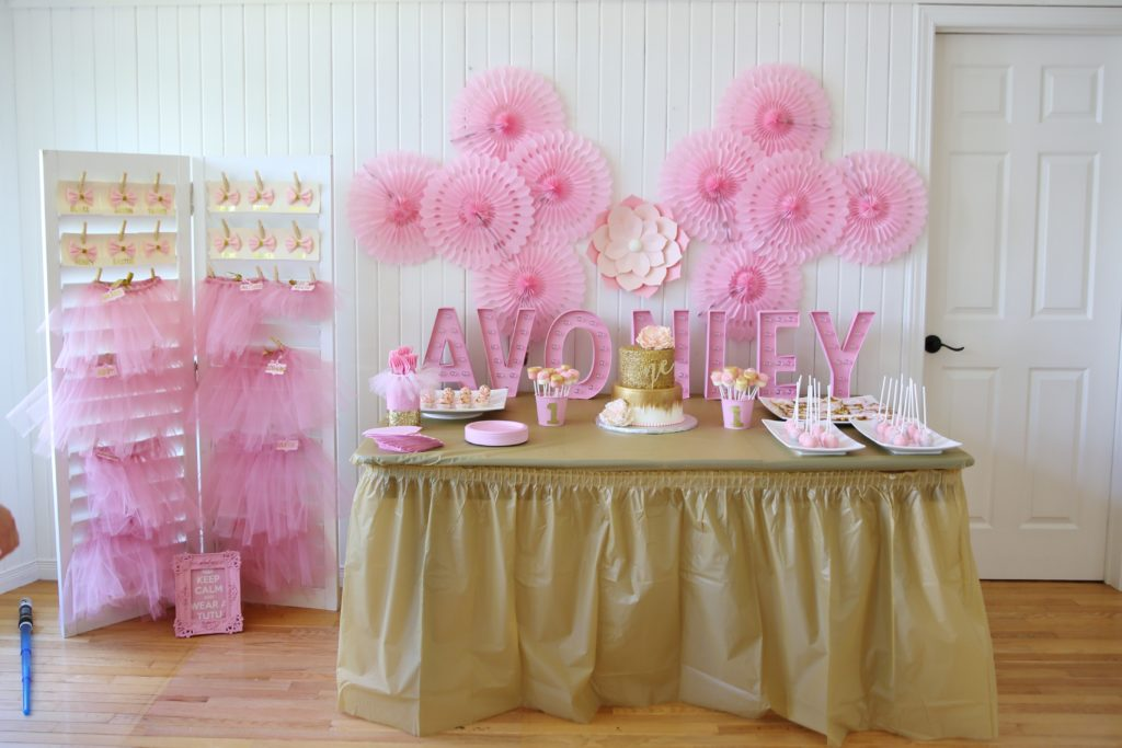 Pink and Gold 1st Birthday Party