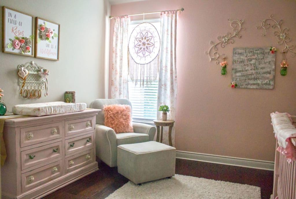shabby chic baby girl nursery project nursery. Black Bedroom Furniture Sets. Home Design Ideas