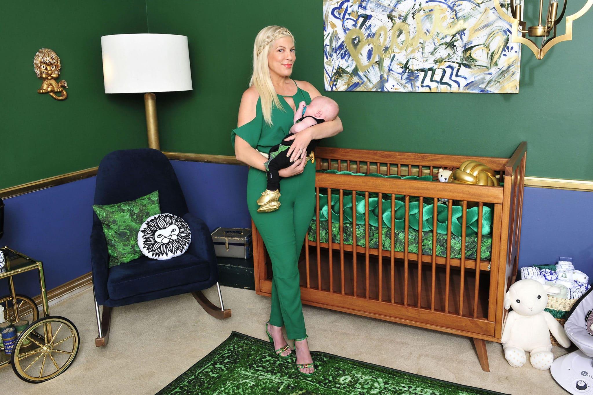 Nursery Design Trends Advice From Celebrity Designer: Celebrity Design Reveal: Tori Spelling's Malachite Nursery