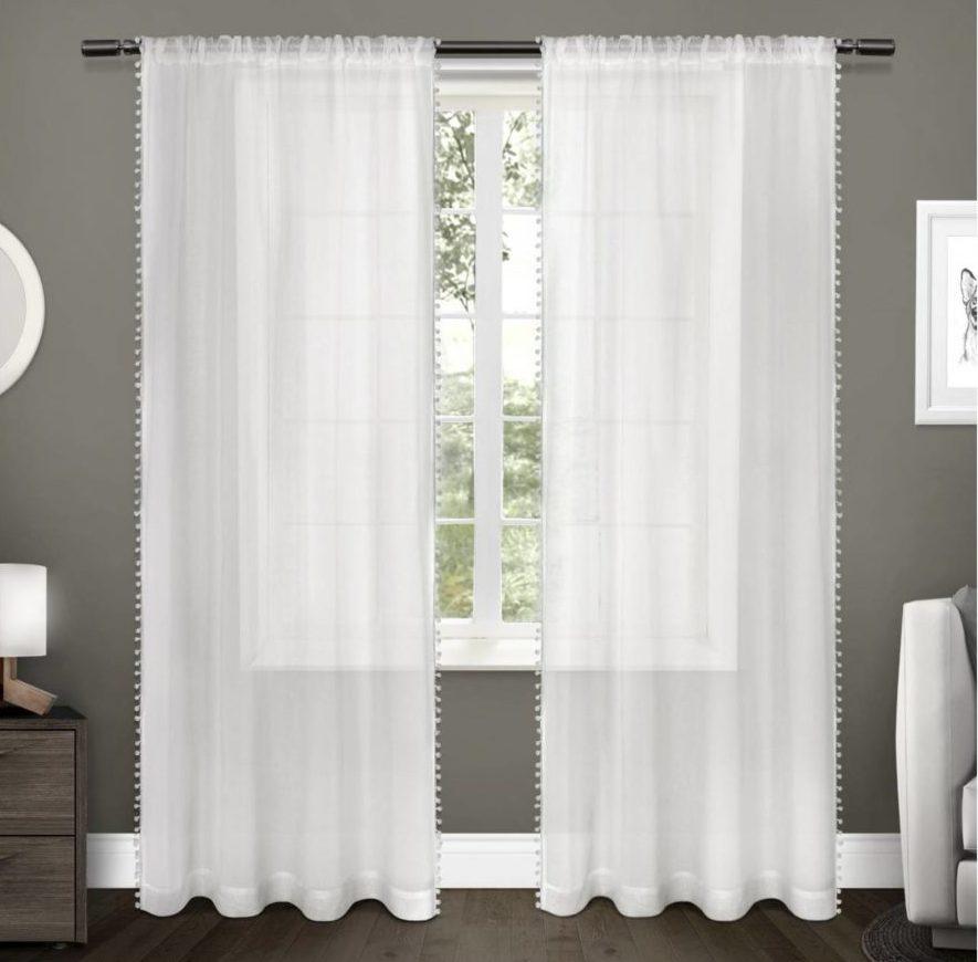 Sheer Pom Pom Curtains