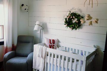 Sweet Baby Girl Shiplap Nursery