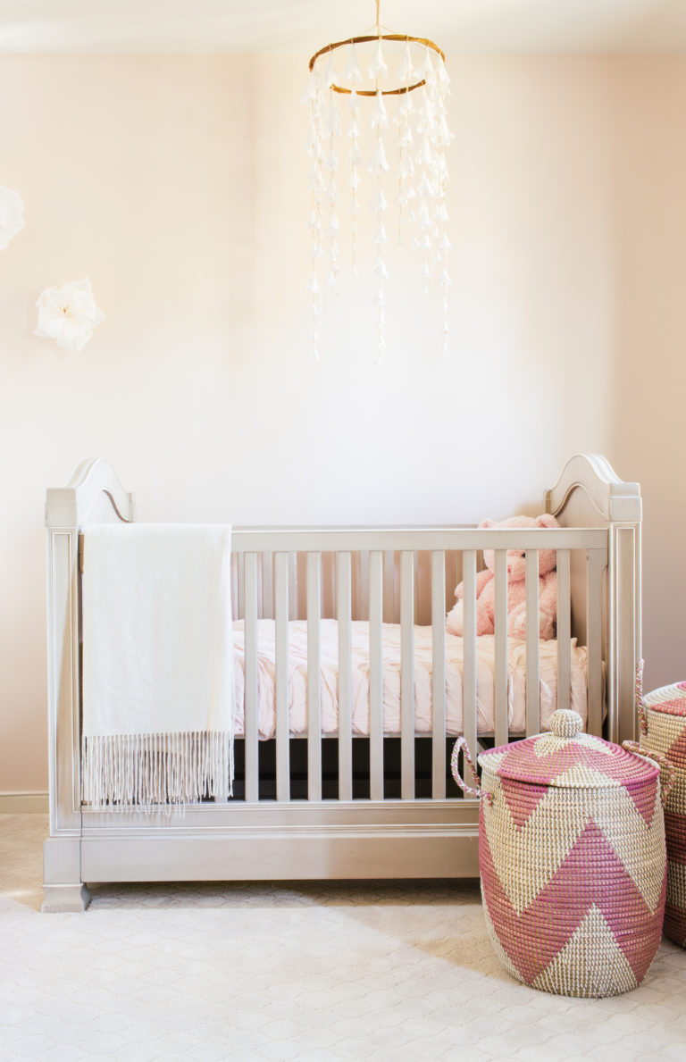 A Petal Pink Nursery for Summertime Arrival