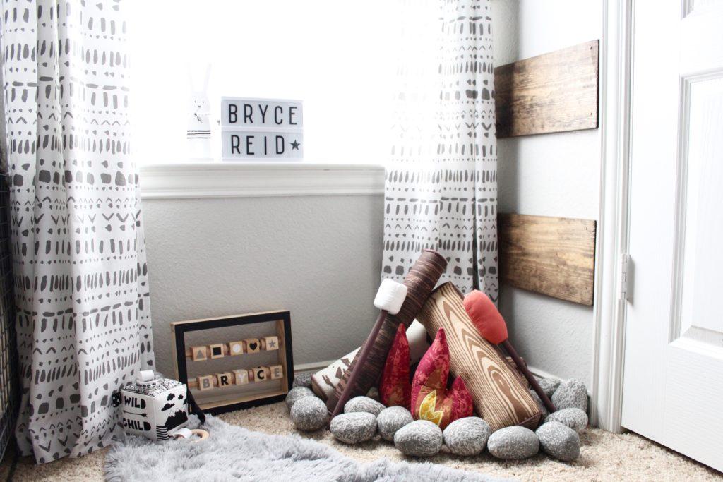 Bryce's Rustic Meets Modern Monochrome Nursery
