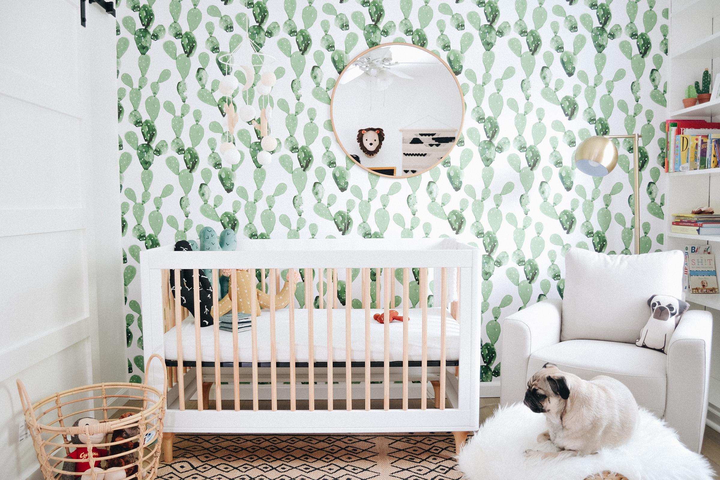 Llewyn S Cactus Boho Modern Nursery Project Nursery