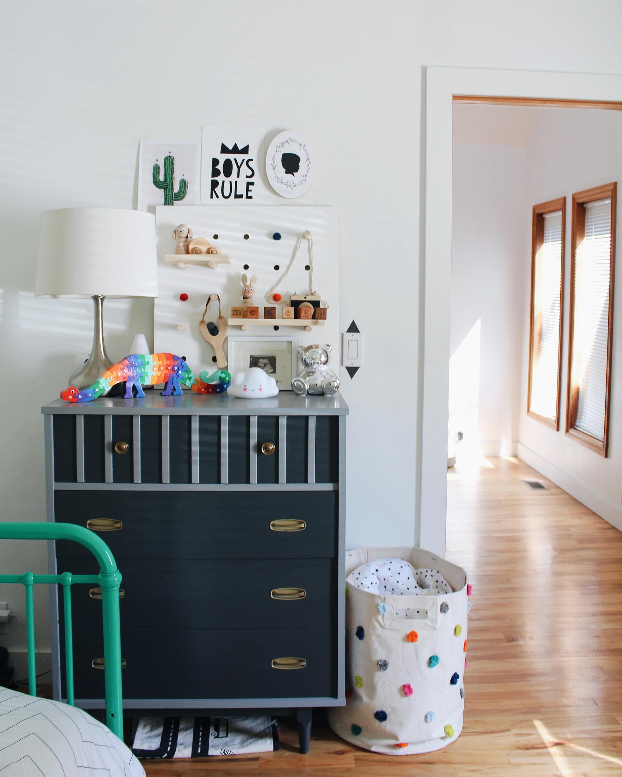 Shared Boys Room Styled Dresser - Project Nursery