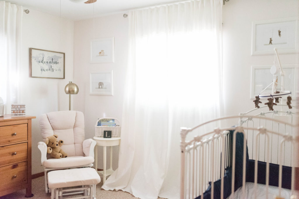 Navy & Gray Vintage Inspired Baby Boy Nursery captured by Jessica Husted Photography