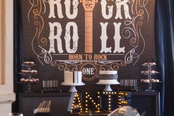 Rock 'n' Roll 1st Birthday Party