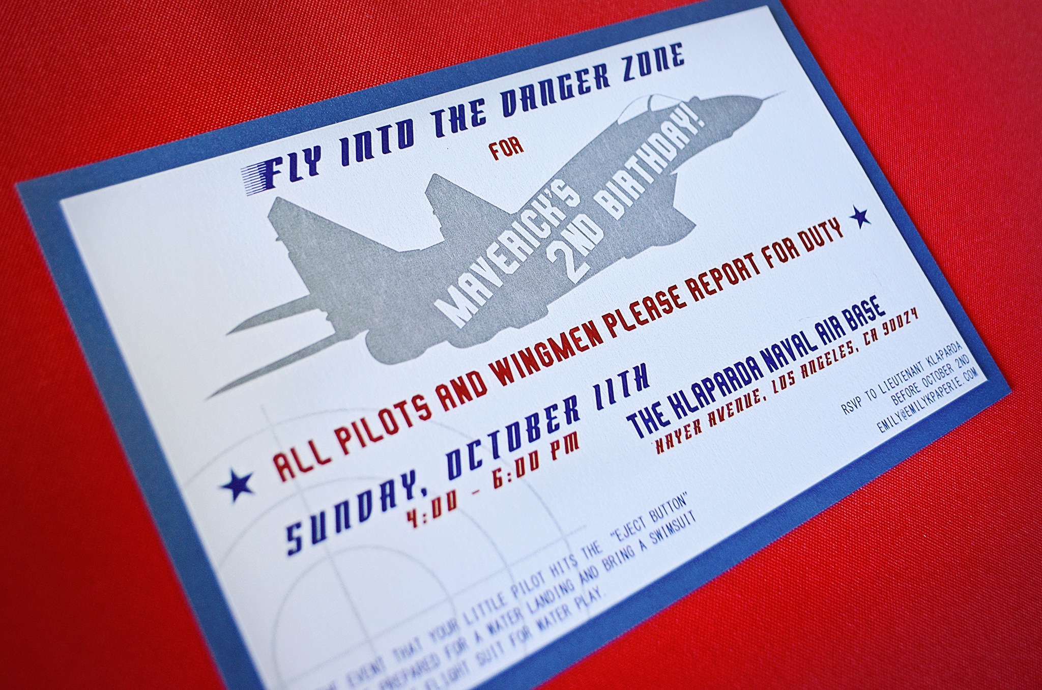 Personalized Top Gun Birthday Party Invitations! - Project Nursery
