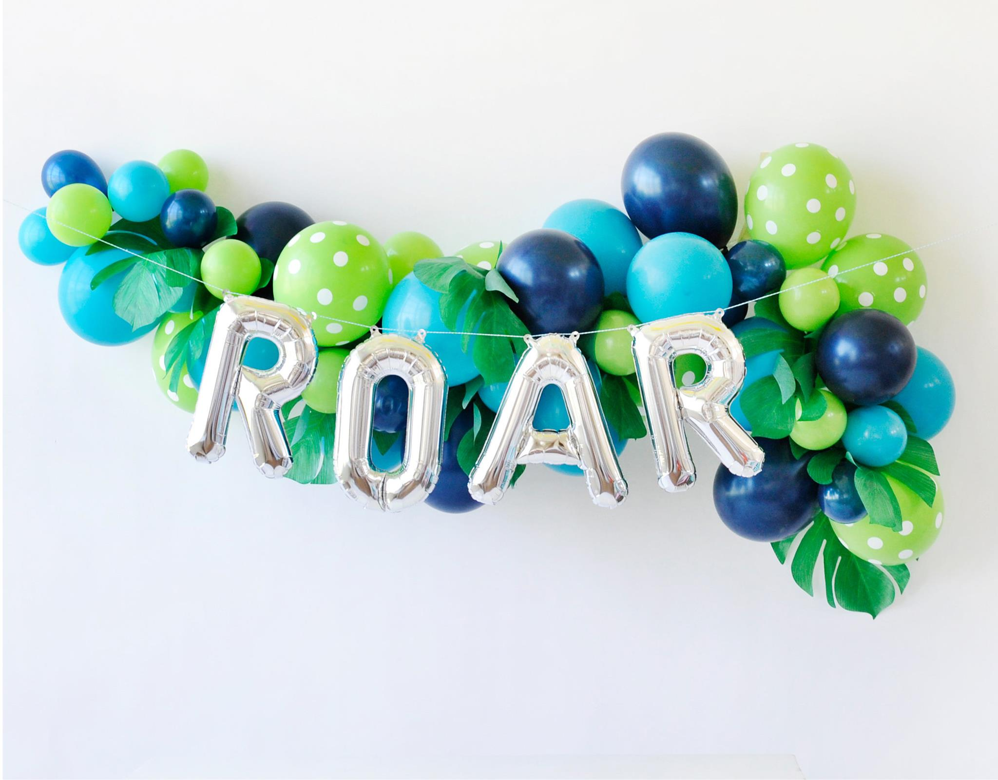 Dinosaur Birthday Party Balloon Garland - Project Nursery