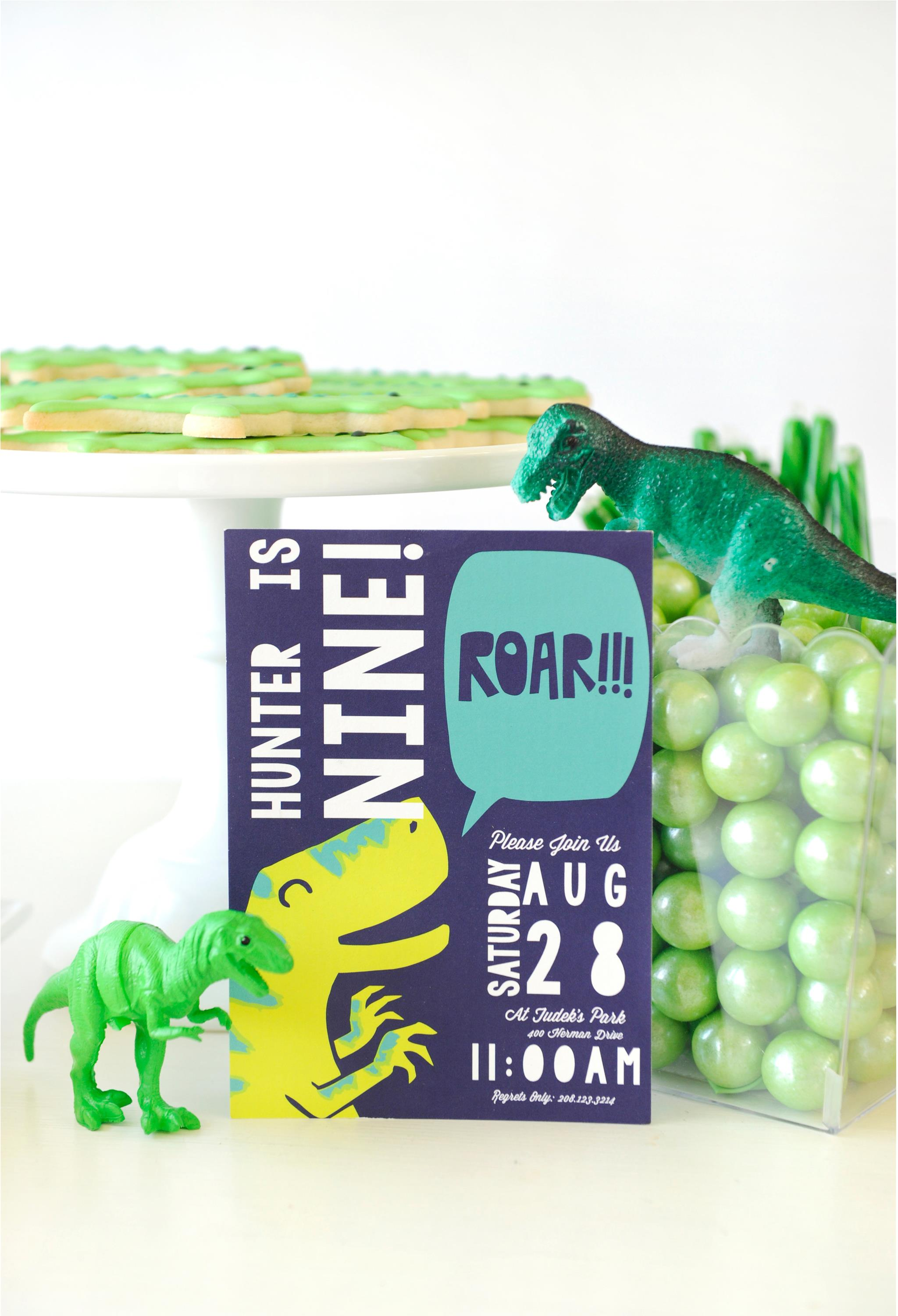 Dinosaur Birthday Party Invitation - Project Nursery
