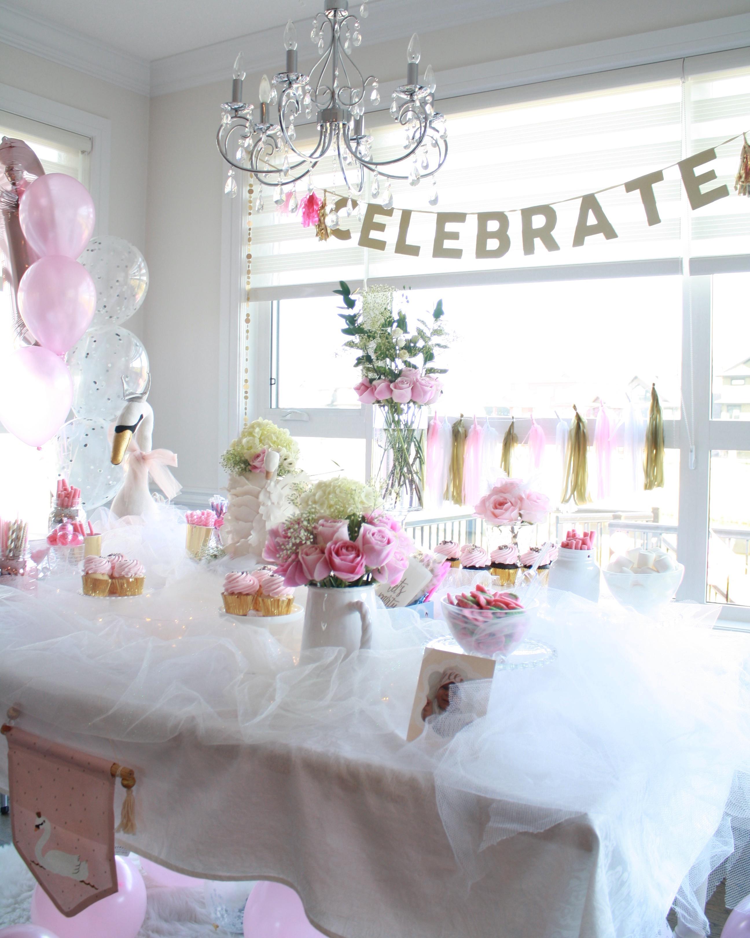 Swan Princess First Birthday Project Nursery